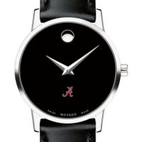 University of Alabama Women's Movado Museum with Leather Strap