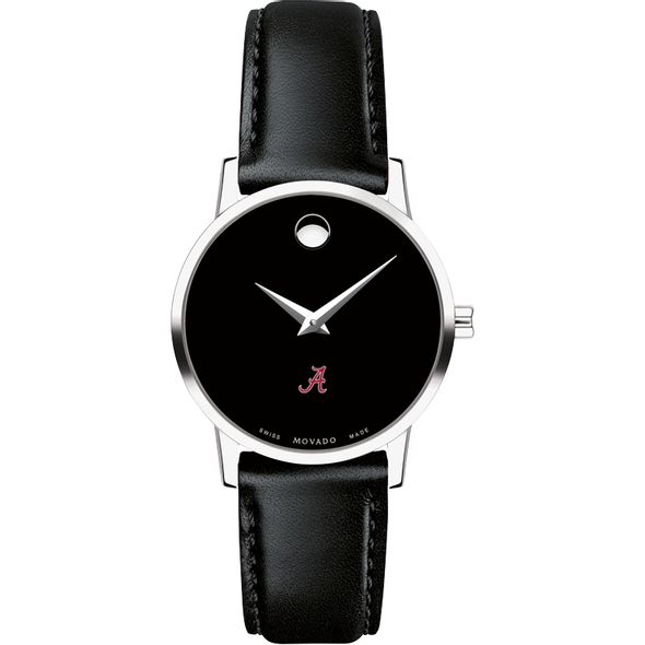 University of Alabama Women's Movado Museum with Leather Strap - Image 2