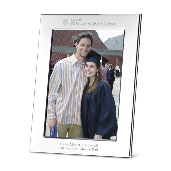 SC Johnson College Polished Pewter 5x7 Picture Frame