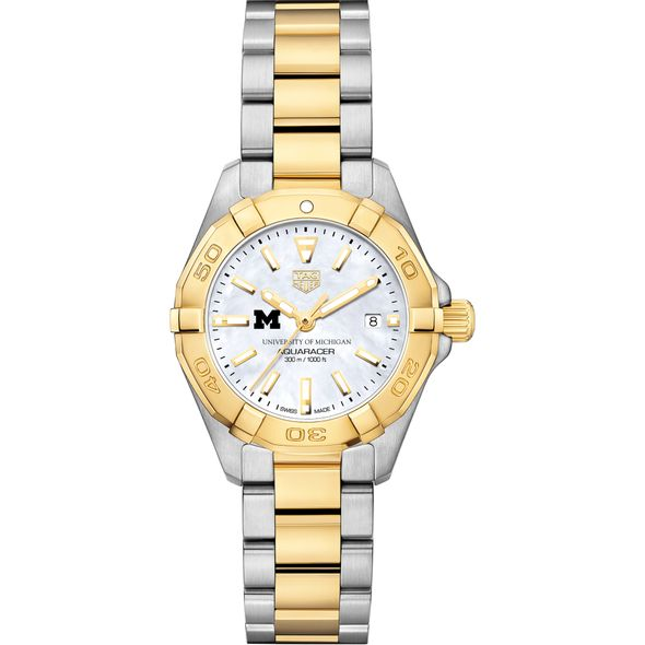 University of Michigan TAG Heuer Two-Tone Aquaracer for Women - Image 2