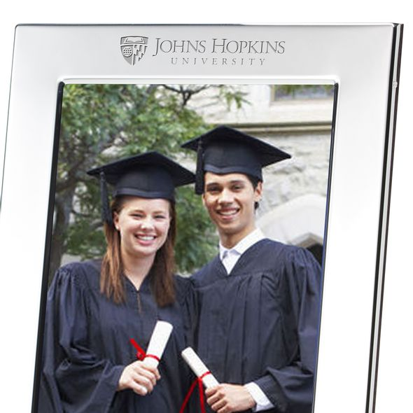 Johns Hopkins Polished Pewter 5x7 Picture Frame - Image 2