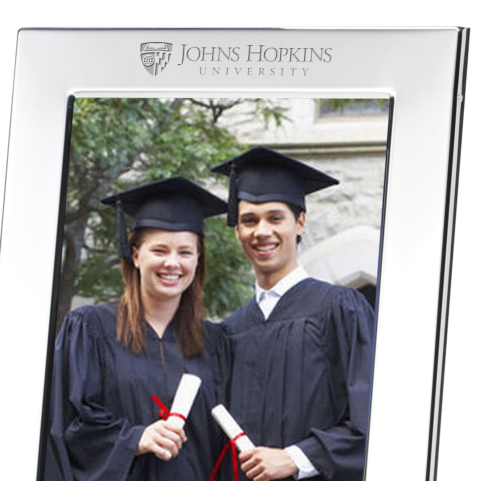 Johns Hopkins Polished Pewter 5x7 Picture Frame - Image 2