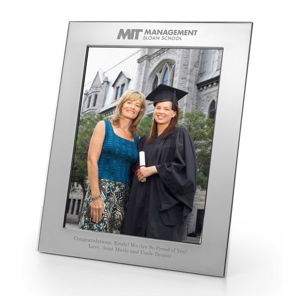 MIT Sloan Polished Pewter 8x10 Picture Frame - Image 1