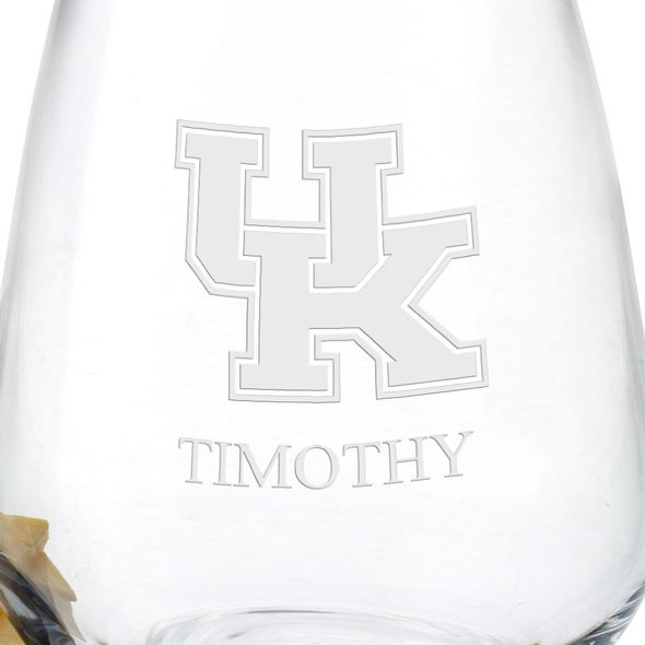 University of Kentucky Stemless Wine Glasses - Set of 4 - Image 3
