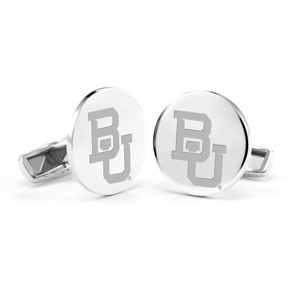 Baylor University Cufflinks in Sterling Silver - Image 1