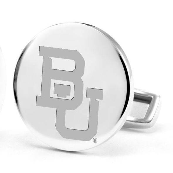 Baylor University Cufflinks in Sterling Silver - Image 2