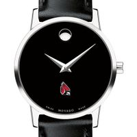 Ball State Women's Movado Museum with Leather Strap