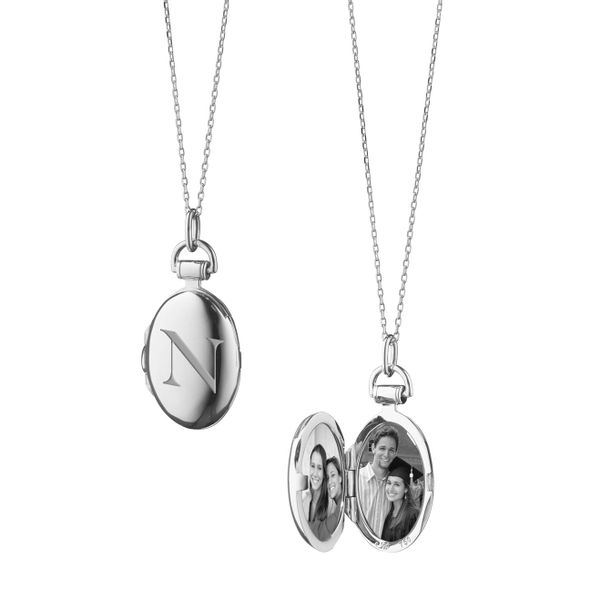 Northeastern Monica Rich Kosann Petite Locket in Silver - Image 1