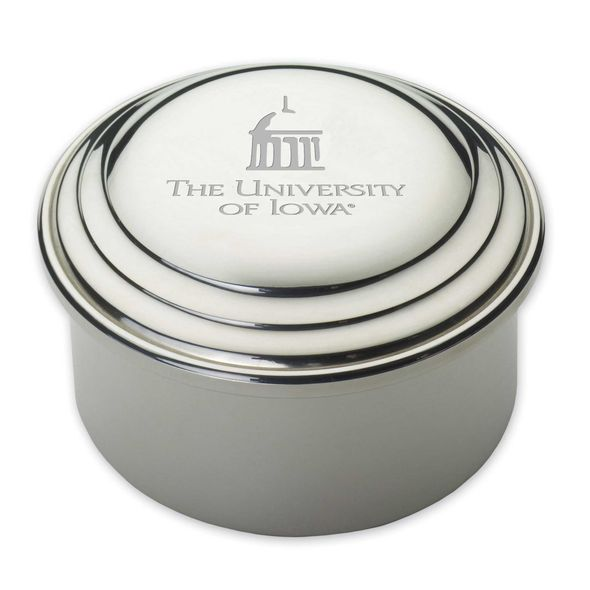 University of Iowa Pewter Keepsake Box