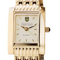 Chicago Women's Gold Quad Watch with Bracelet