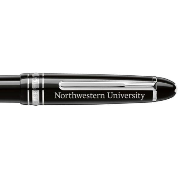 Northwestern University Montblanc Meisterstück Midsize Ballpoint Pen in Platinum - Image 2