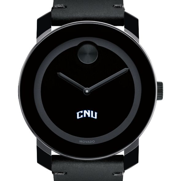 Christopher Newport University Men's Movado BOLD with Leather Strap