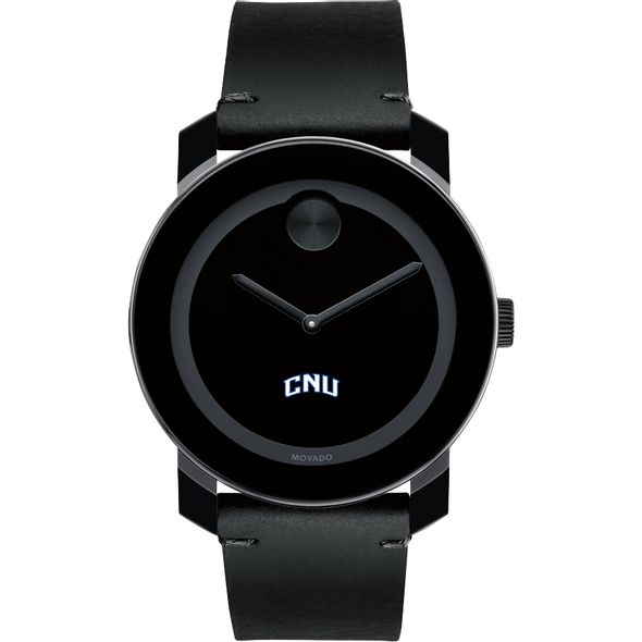 Christopher Newport University Men's Movado BOLD with Leather Strap - Image 2