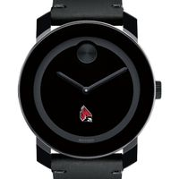 Ball State Men's Movado BOLD with Leather Strap