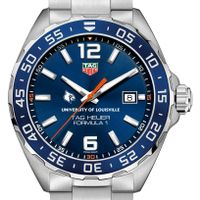 University of Louisville Men's TAG Heuer Formula 1 with Blue Dial & Bezel