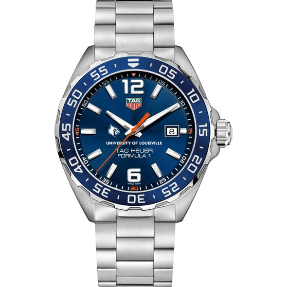 University of Louisville Men's TAG Heuer Formula 1 with Blue Dial & Bezel - Image 2