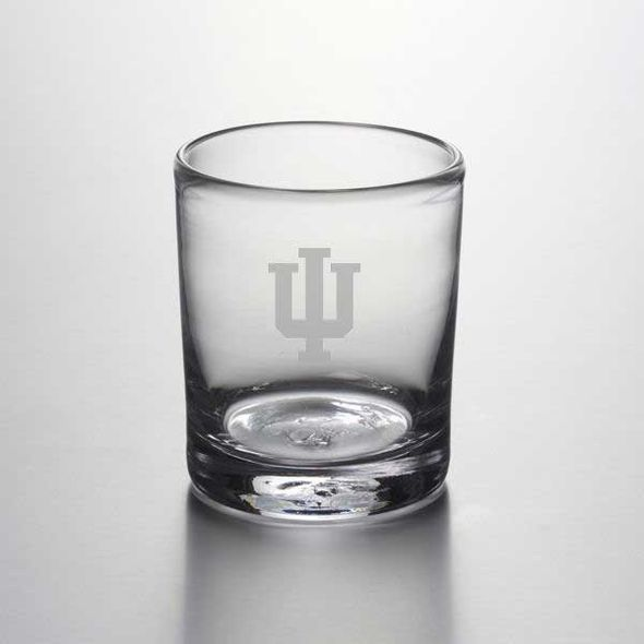 Indiana University Double Old Fashioned Glass by Simon Pearce