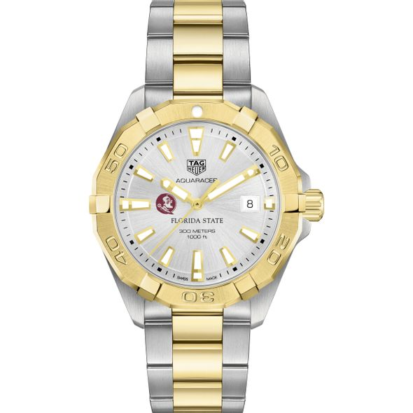 Florida State Men's TAG Heuer Two-Tone Aquaracer - Image 2