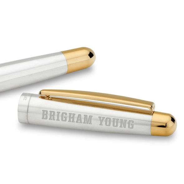 Brigham Young University Fountain Pen in Sterling Silver with Gold Trim - Image 2