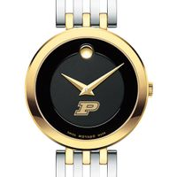 Purdue University Women's Movado Esparanza Two-Tone Museum with Bracelet