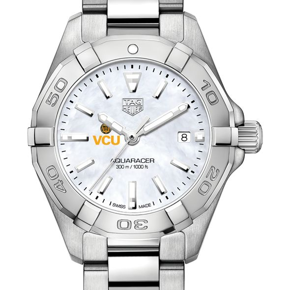 Virginia Commonwealth University Women's TAG Heuer Steel Aquaracer w MOP Dial