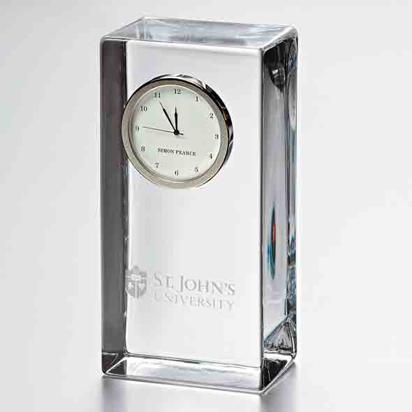 St. John's Tall Glass Desk Clock by Simon Pearce