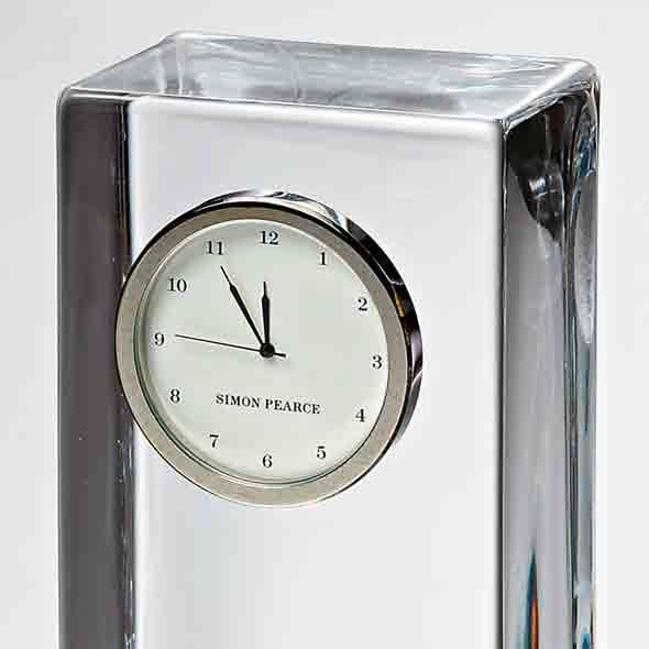 St. John's Tall Glass Desk Clock by Simon Pearce - Image 3