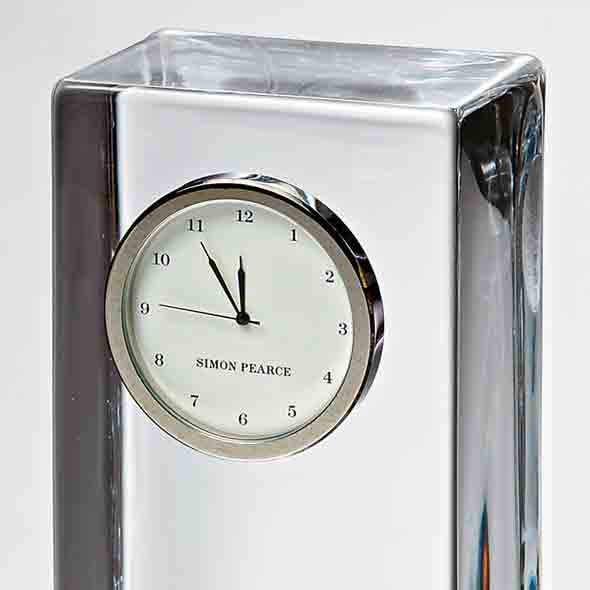 St. John's Tall Glass Desk Clock by Simon Pearce - Image 3