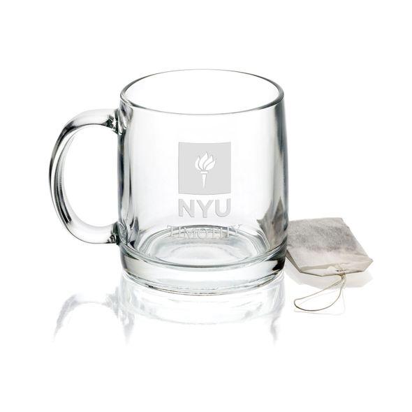 New York University 13 oz Glass Coffee Mug