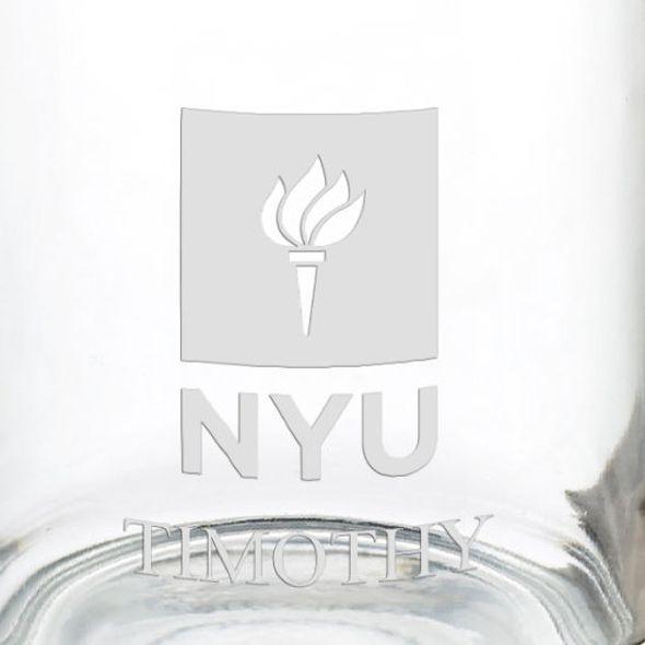 New York University 13 oz Glass Coffee Mug - Image 3