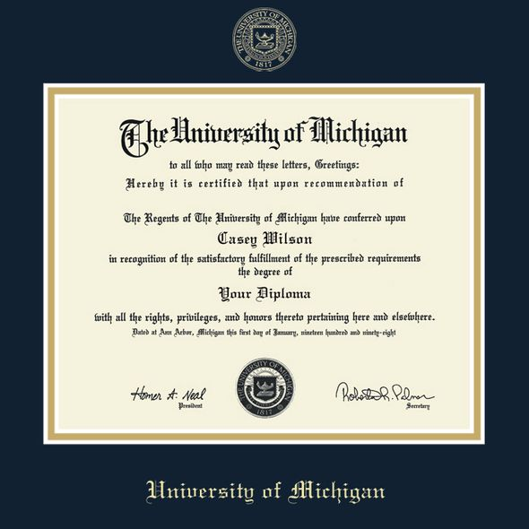 Michigan PhD Diploma Frame, the Fidelitas - Image 2