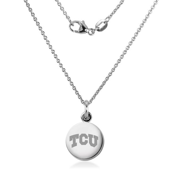 Texas Christian University Necklace with Charm in Sterling Silver - Image 2