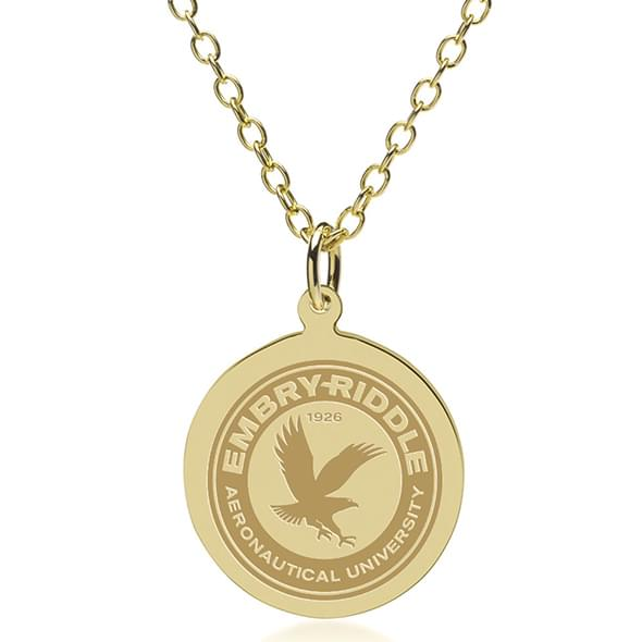 Embry-Riddle 18K Gold Pendant & Chain