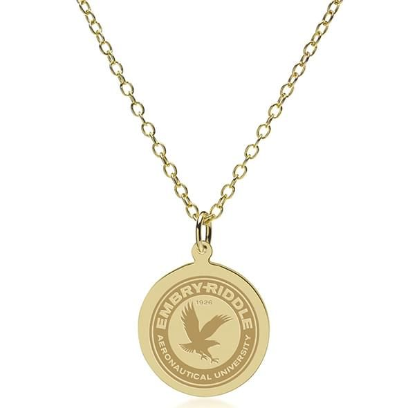 Embry-Riddle 18K Gold Pendant & Chain - Image 2
