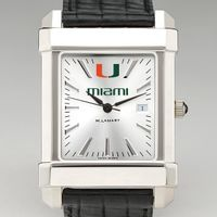 Miami Men's Collegiate Watch with Leather Strap