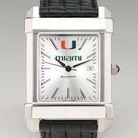 Miami Men's Collegiate Watch with Leather Strap