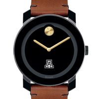 University of Arizona Men's Movado BOLD with Brown Leather Strap