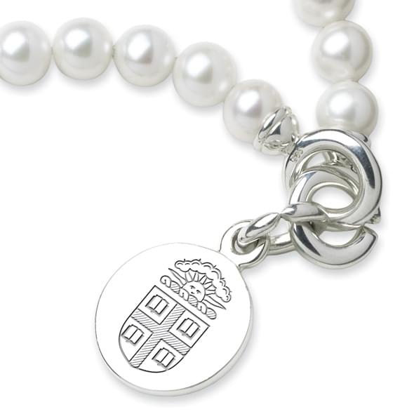 Brown Pearl Bracelet with Sterling Silver Charm - Image 2
