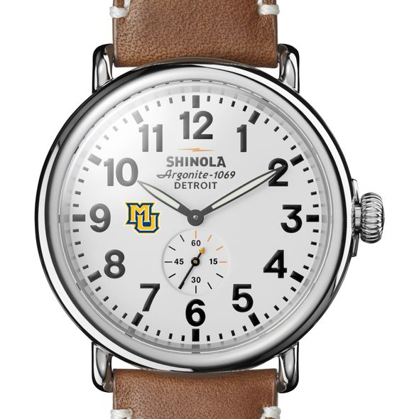 Marquette Shinola Watch, The Runwell 47mm White Dial - Image 1