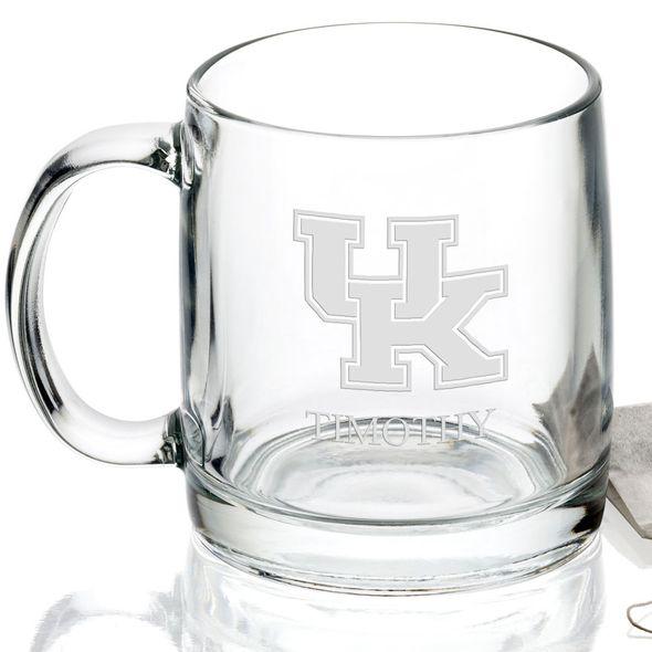 University of Kentucky 13 oz Glass Coffee Mug - Image 2