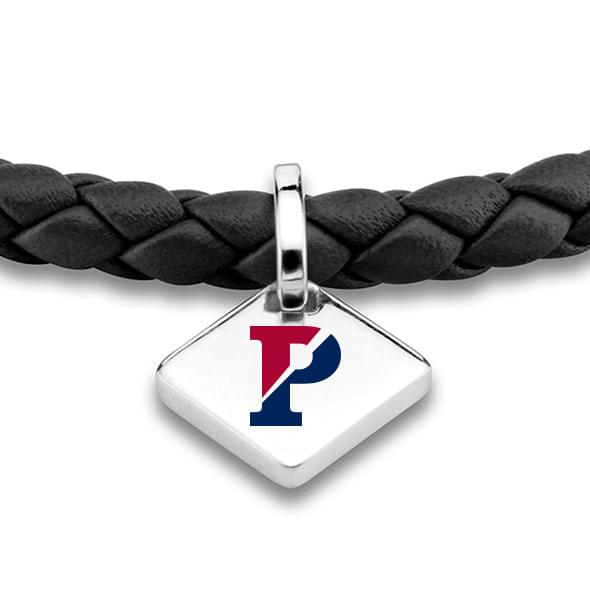 Penn Leather Bracelet with Sterling Silver Tag - Black - Image 2