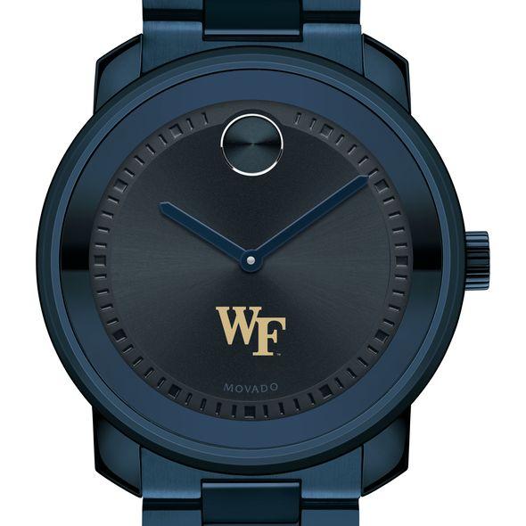 Wake Forest University Men's Movado BOLD Blue Ion with Bracelet