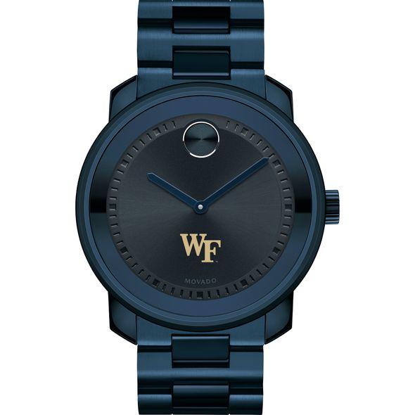 Wake Forest University Men's Movado BOLD Blue Ion with Bracelet - Image 2