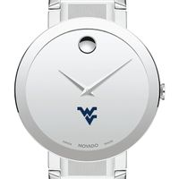 West Virginia University Men's Movado Sapphire Museum with Bracelet