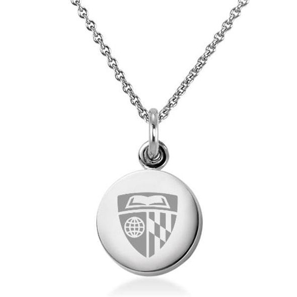 Johns Hopkins University Necklace with Charm in Sterling Silver