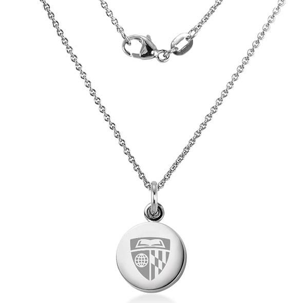 Johns Hopkins University Necklace with Charm in Sterling Silver - Image 2