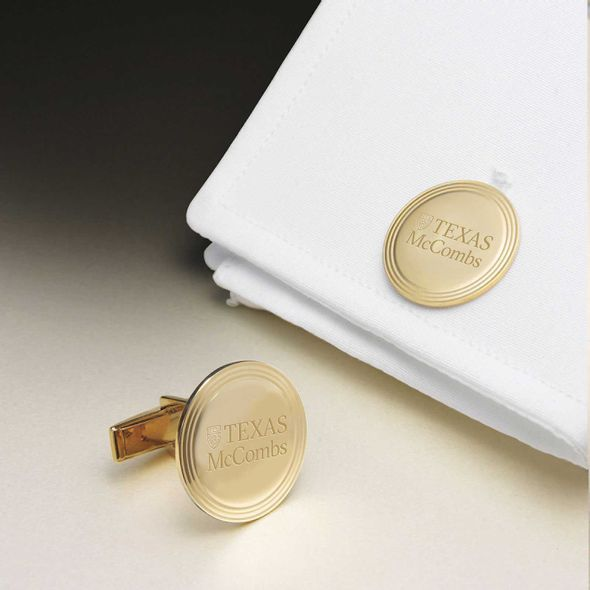 Texas McCombs 14K Gold Cufflinks - Image 1