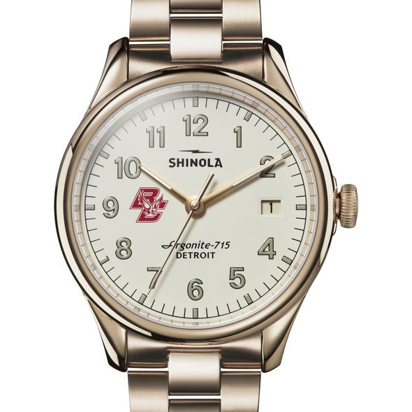 Boston College Shinola Watch, The Vinton 38mm Ivory Dial