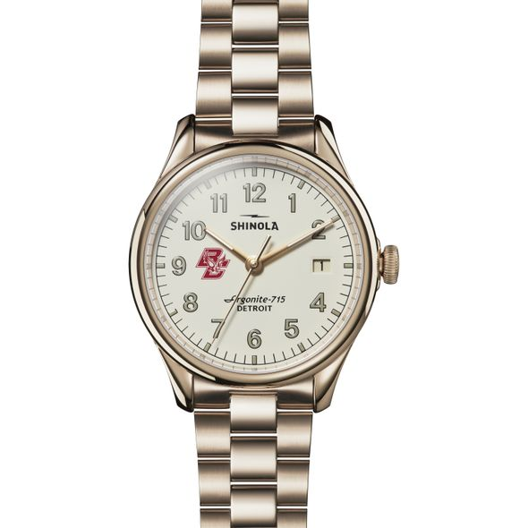 Boston College Shinola Watch, The Vinton 38mm Ivory Dial - Image 2