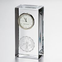 UVA Tall Desk Clock by Simon Pearce